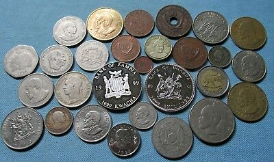 Lot of 28 Vintage Africa Coins 1926-2005 Mixed Group of African Countries