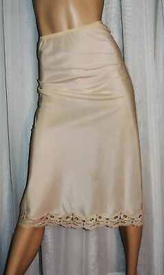 Vtg Half Slip SALE EVERY STYLE & EVERY SIZE by Lady Lynne Silky Beige EXC L