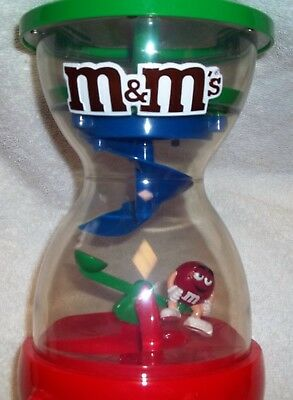 M & M's World Fun Machine 2005 Candy Dispenser RED On See-Saw plastic