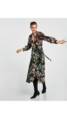BNWT ZARA Printed Long Flowing Dress UK Size SMALL SOLD OUT