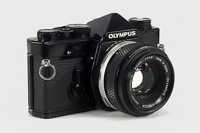 Olympus OM-1n MD Camera, Black, w/ Zuiko Auto-S 50mm 1:1.8