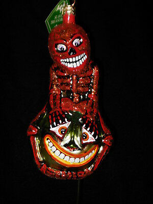 "Slavic Treasures Halloween Ornament ""Patch My Bones-Red #02-1078 NWT/Box"