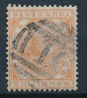 [58474] Mauritius 1879 good Used Very Fine good Cancellation stamp