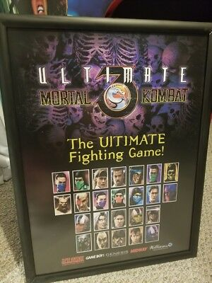 Mortal Kombat 3 Monday MK3 18 x 24 Advertisement Tribute Promo Release Poster