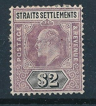 [58904] Straits Settlements 1905-06 good MH Very Fine stamp $175