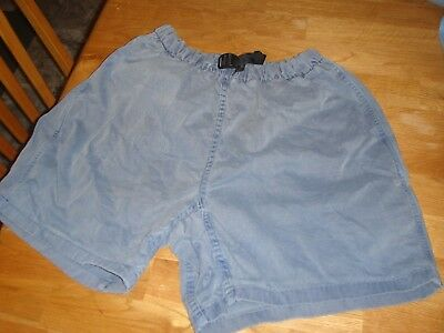 Vintage GRAMICCI Shorts Womens original fit 100% cotton Made in USA Blue