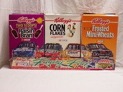 NASCAR / Kelloggs1997 promotional cereal box set / opened