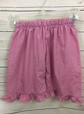 Boutique Ruffle Shorts Preppy Heirloom Girls' Hot Pink Gingham Size 6 A30