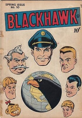 Blackhawk #10 - 2nd issue in series - Reed Crandall - 1st solo Chop Chop