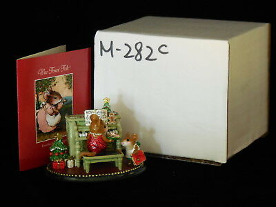 """Wee Forest Folk Mice """"Her Music Lesson- Christmas"""" M-282c MIB"""