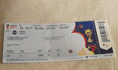 Ticket World Cup 2018 FINAL France - Croatia  PLIER