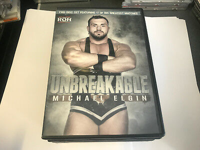 """Official ROH Ring of Honor Best of Micheal Elgin """"Unbreakable"""" DVD 2 Disc [DVDB6"""