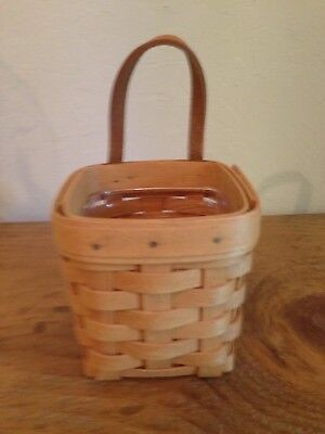 Longaberger Chives Booking Basket with Plastic Protector