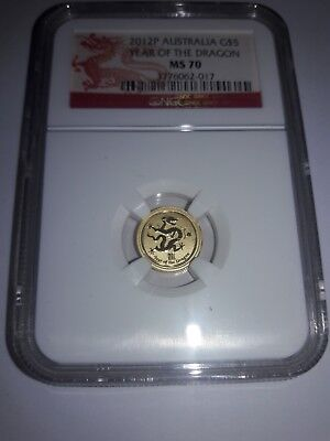 2012P Australian Gold 1/20th oz NGC MS 70 Early Releases Year of the Dragon