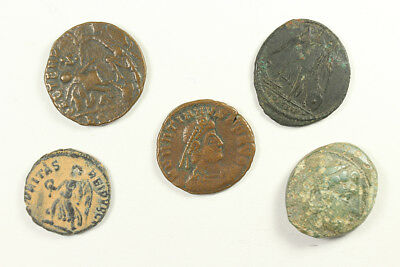 Group of Five Greek & Roman Coins, Alexander the Great, Constantine DK001