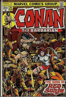 Conan The Barbarian #24 Nm+ 1973 1St Full App. Red Sonja Last Barry Smith Art