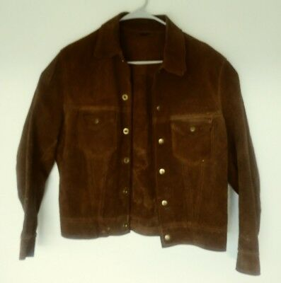 Leather Welding Jacket Womens Size Small or Youth XL Rare Size
