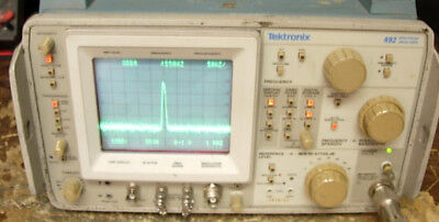 Tektronix 492 Tek Spectrum Analyzer Opt 1,2 *Works*