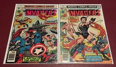 The Invaders 15 & 17 Lot of 2 Bronze Age Comic Books from Marvel Comics