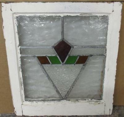 "OLD ENGLISH LEADED STAINED GLASS WINDOW Mystic Geometric Abstract 17.75"" x 19.5"""