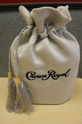 CROWN ROYAL 75th ANNIVERSARY BAG MONARCH GRAY W TASSELS DRAW STRING FREE FAST SH