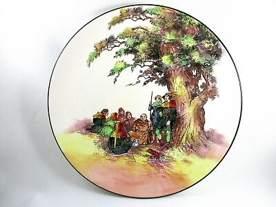 """ROYAL DOULTON England """"Under the Greenwood Tree"""" 13.5"""" Charger Plate D6341"""