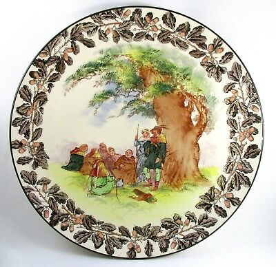 """ROYAL DOULTON England """"Under the Greenwood Tree"""" 15.25"""" Wall Charger 1239"""