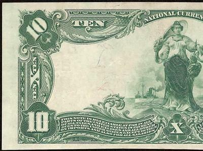 1902 $10 Dollar Third National Bank Note Pittsburgh Pennsylvania Currency Money