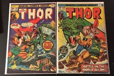 The Mighty Thor 237 & 238 Lot of 2 Bronze Age Comic Books from Marvel Comics