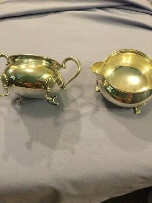 Fisher Sterling Sugar and Creamer Scallop Shell