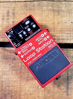 Boss RC-3 Loop Station Stereo Stompbox Looper Effect Pedal