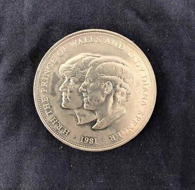 H.R.H. The Prince Of Wales And Lady Diana Spencer 1981 Crown Coin