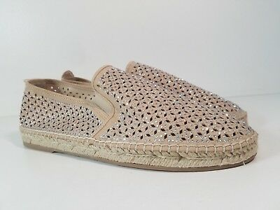 75f9072097a4 size 8.5 Steve Madden Petite Taupe Multi Slip On Espadrille Womens Shoes