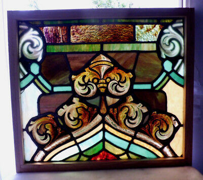 Antique Vtg Church Stained Glass Window Architectural Salvage Gothic Point W106