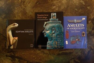Rare Symbolic World of Egyptian Amulets / Ancient Egypt Carol Andrews 3 Book LOT