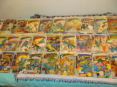 HIGH GRADE Bronze Age ComicS Lot Of 58 Superman  261 to 388 VF+ 1974 -1984