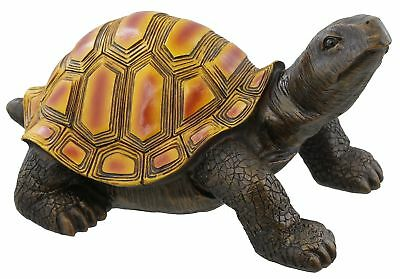 Large Colorful Box Turtle Garden Decoration Collectible Tortoise Terrapin Fig...