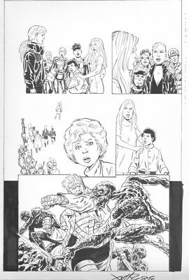 NEXT MEN AFTERMATH # 43 Pg. 20 by JOHN BYRNE! SIGNED!! ENTIRE TEAM! ACTION PAGE!
