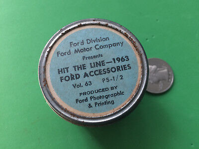 Ford Motor Company Presents HIT THE LINE-1963 FORD ACCESSORIES Film Strip Photo