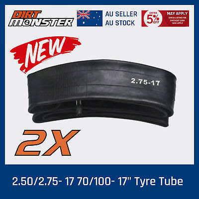 2 X New 17 inch 2.50 / 2.75-17 OR 70/100 - 17 Pit Dirt Bike Inner Tube 17''