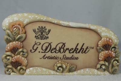 G. DeBrekht-Russia 'Plaque Stand' Stand Alone Display Sign #59099-4 NEW