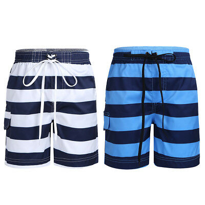d11285a3ec2 Kids Boys Summer Troy Stripe Swim Trunk Above-Knee Length Quick Dry Board  Shorts