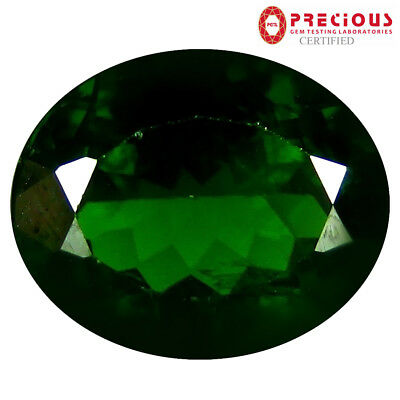 4.10 ct PGTL Certified Stunning Oval Cut (11 x 9 mm) Russian Chrome Diopside