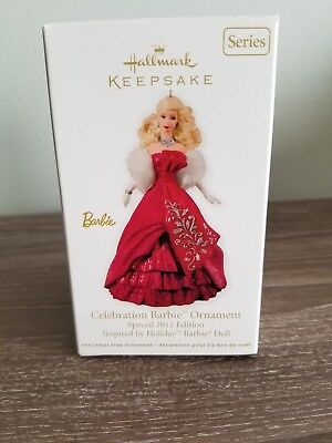 "Hallmark Keepsake ""Celebration Barbie"" 2012 Special Edition Ornament NEW"