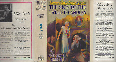 NANCY DREW #9 SIGN OF THE TWISTED CANDLES w/DJ 1942A-27 GLOSSY INTERNAL N-FINE