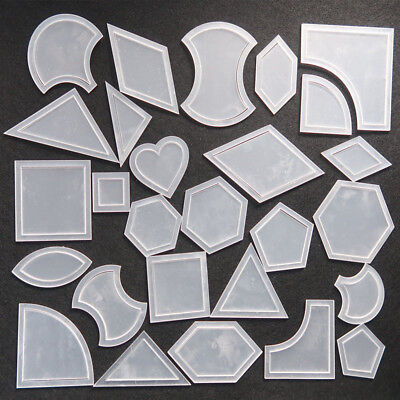 54pcs Reusable Mixed Quilt Template Plastic DIY Tool Fits Patchwork Quilter Set