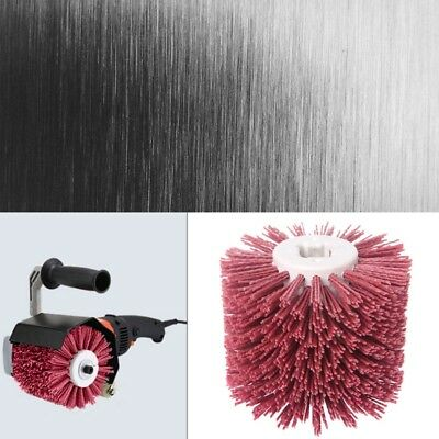 Deburring Red Abrasive Ceramic Wire Round Brushes Head Polishing Buffing Wheel