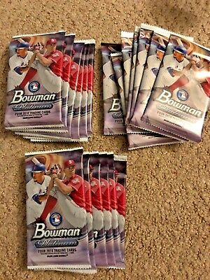 2018 Bowman Platinum lot of 21 factory sealed packs Nubered rookies or Autos?