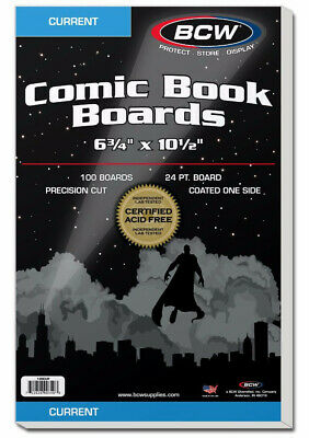 Bcw Comic Book Backing Boards Current Comics (100 Boards Per Pack)  - BRAND NEW