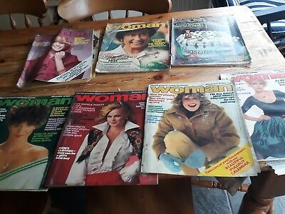 Vintage Woman Magazine bundle from   1977 Please see Pictures .